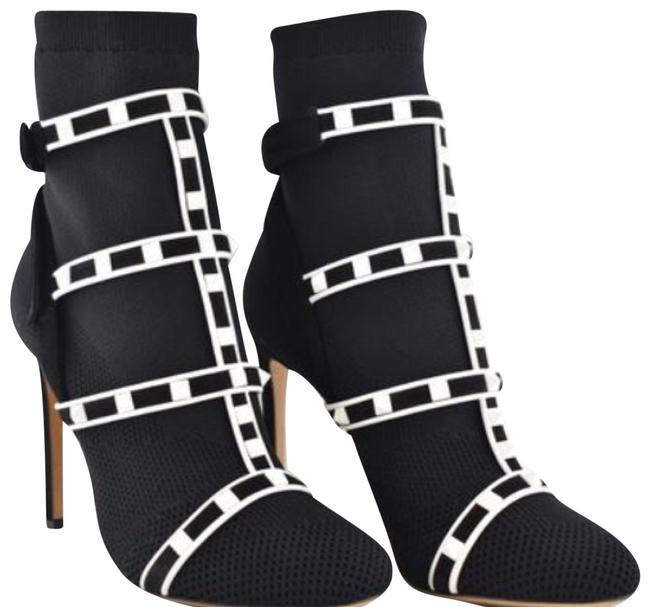 Item - Black White New Boots/Booties Size EU 39.5 (Approx. US 9.5) Regular (M, B)