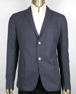 Gucci Midnight Blue/Grey Blue/Grey Wool Formal Jacket 2 Buttons 46r/Us 36r 406326 4038 Groomsman Gift