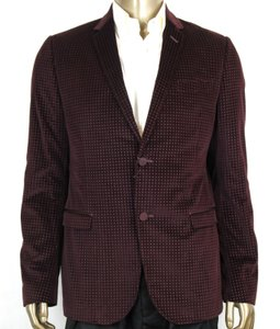 Gucci Wine Printed Stretch Square Evening Jacket 2 Buttons 52r/Us 42r 322626 6250 Groomsman Gift