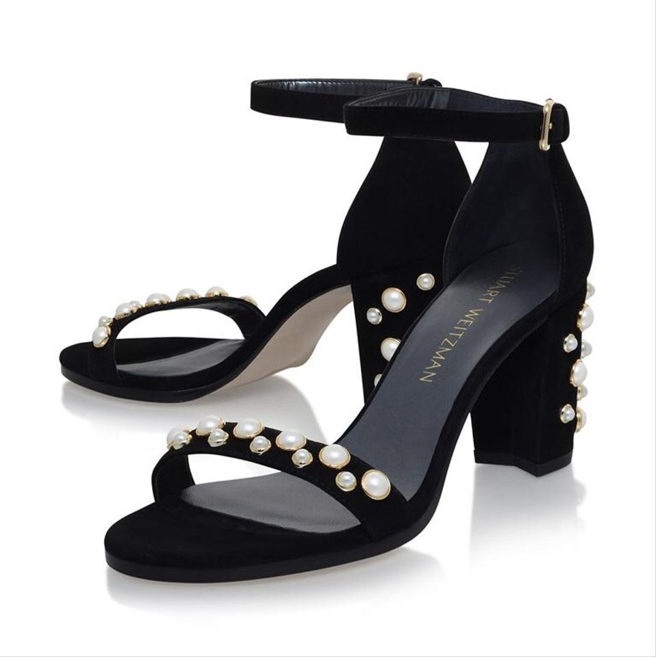 2958dfb11faa Stuart Weitzman Black Morepearls More Pearls Sandals Size US 7 ...