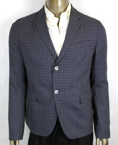 Gucci Midnight Blue/Grey Blue/Grey Wool Formal Jacket 2 Button 54r/Us 44r 406675 4038 Groomsman Gift