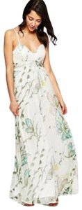 Multi-color Maxi Dress by Traffic People Silk Maxi Butterflies Embroidered