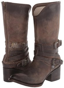 FreeBird By Pikes Midcalf Leather Size Stone Boots