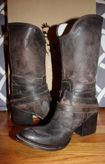 FreeBird By Steven Pikes Midcalf Leather Size Stone Boots