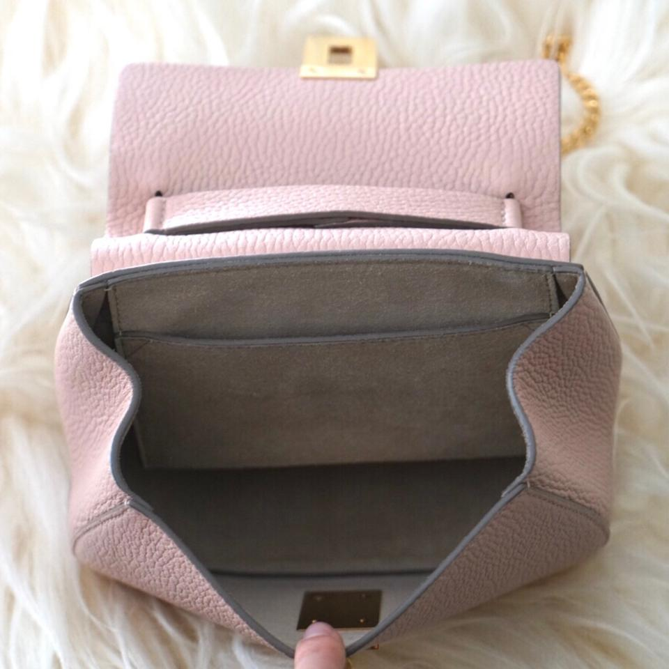 Chloé Cement Bag Shoulder Drew Cross Chain Leather Body Pink Mini rnrzxTI