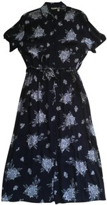 Navy/ floral Maxi Dress by Cherokee Rayon