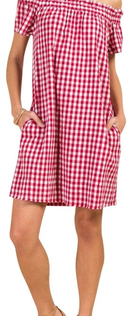 Preload https://img-static.tradesy.com/item/23635633/francesca-s-red-and-white-sukie-off-the-shoulder-gingham-short-casual-dress-size-12-l-0-2-650-650.jpg