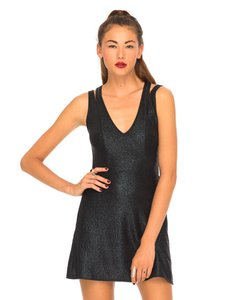 Motel Rocks Fit And Flare Skater Mini Shiny Little Dress