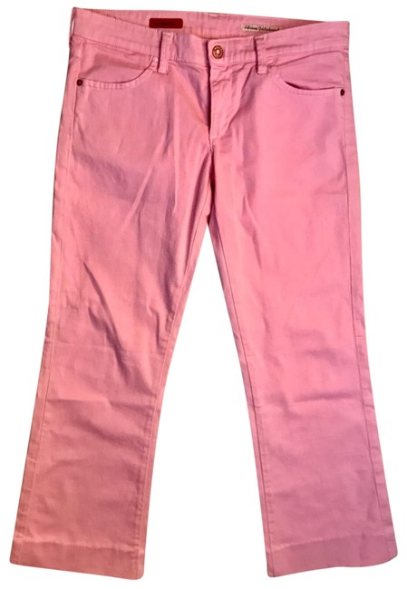 Item - Pink Raw Light Wash The Dietrich Flare Leg Jeans Size 8 (M, 29, 30)