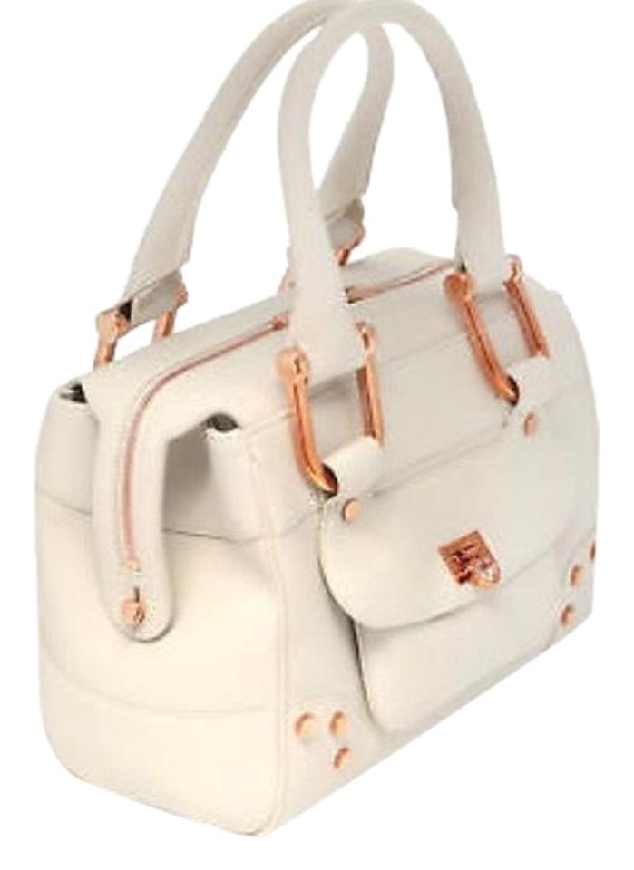 88adceb306 Chopard Caroline Mini Handbag - Made In Italy - 715 White with Rose Gold  Hardware Calfskin Leather Satchel