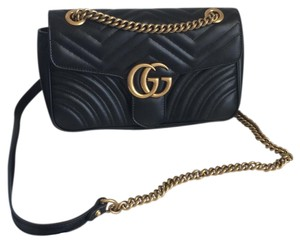 714c8023cb6 Added to Shopping Bag. Gucci Marmont Shoulder Bag. Gucci Marmont Small Gg  Matelasse Black ...