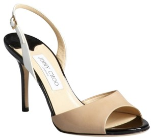 Jimmy Choo Heels Pump Beige/Black Sandals
