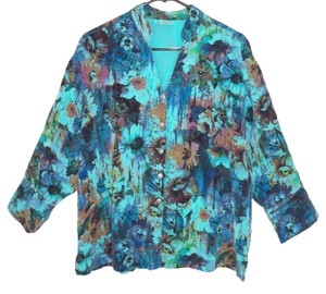 Tianello Floral Tencel Printed Top