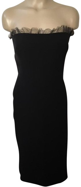 Preload https://item1.tradesy.com/images/giorgio-armani-black-strapless-silk-mid-length-cocktail-dress-size-10-m-23636415-0-1.jpg?width=400&height=650