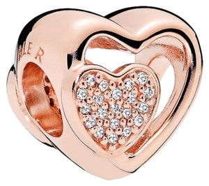PANDORA Joined Together Charm, Rose™ & Clear CZ