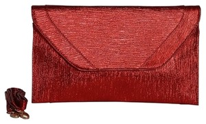 Patzino Red ,Black And gold Clutch