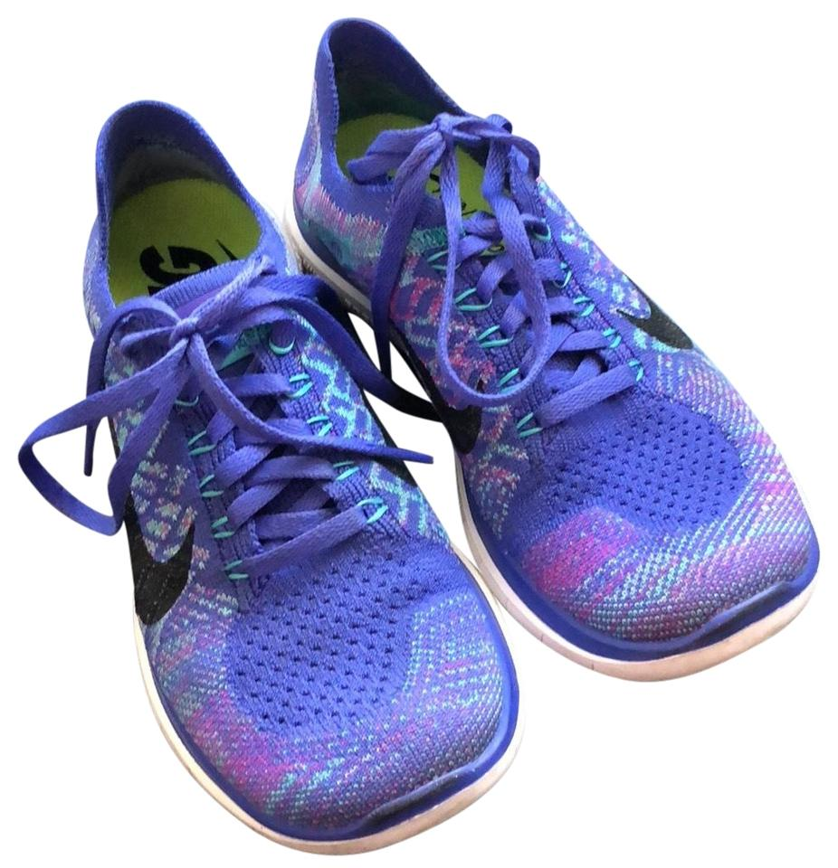 separation shoes 528ac 5554a Nike Purple and Blue Free 4.0 Flyknit Sneakers Size US 6 Regular (M, B) 63%  off retail