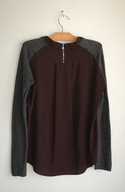 95d47d20ac Kookaï Charcoal Wool Blend Knit Panel Back Gray Sweater - Tradesy
