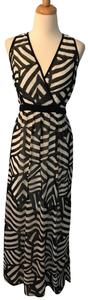 Black and White Maxi Dress by Calvin Klein Light Weight Long