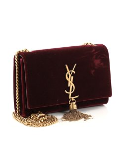 Saint Laurent Burgundy maroon Clutch