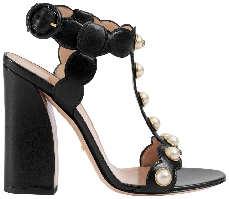 151e5ae8b1b Gucci Willow Pearl Leather T Strap Sandals Size EU 36 (Approx. US 6 ...