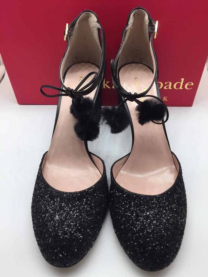 c4f6d8d637ca Kate Spade Glitter Evening Pump Chunky Black Formal Image 11.  123456789101112
