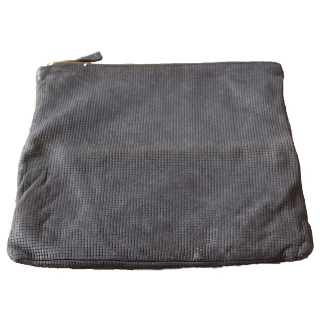Item - Perforated Foldover Black Leather Clutch