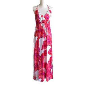 Red White Purple Maxi Dress by Banana Republic