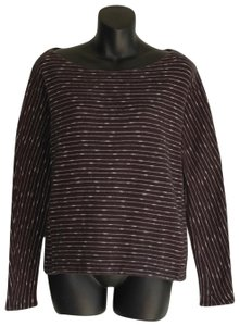 96787355c3 Madewell Loose Fit Striped Cotton Gray Sweater