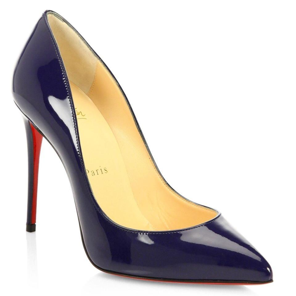 0610a3e84f7 Christian Louboutin Blue Pigalle Follies 100 China Patent Leather Classic  Stiletto Heel Pumps