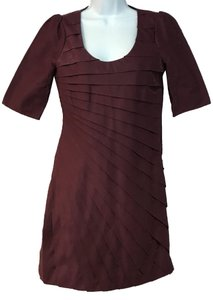 Madison Marcus short dress Merlot on Tradesy