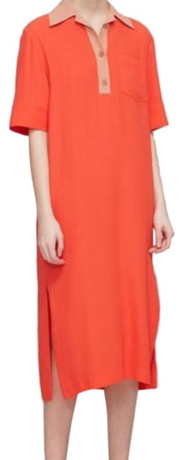Preload https://img-static.tradesy.com/item/23639359/dries-van-noten-coral-redtan-drossy-bis-mid-length-workoffice-dress-size-12-l-0-4-650-650.jpg