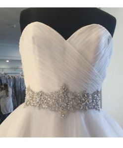 Mori Lee Ivory French Tulle 5276 Formal Wedding Dress Size 24 (Plus 2x)