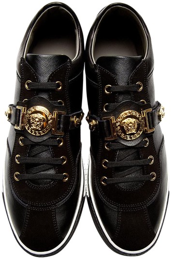 Versace Black Leather and Gold Hardware