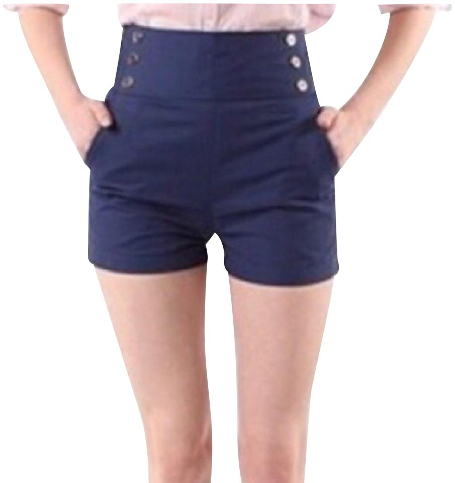 Lucca Couture Navy High Waisted Sailor Shorts Size 2 (XS 23889754ff4