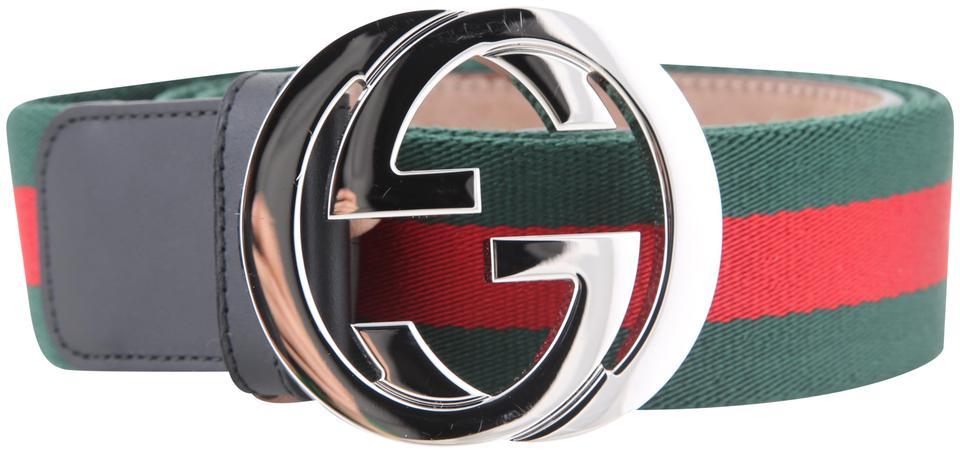 52681647f41 Gucci   Green Red Web with G Buckle 411924 H917n 1060 Belt - Tradesy