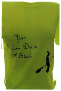 Anvil Nice tee-shirt,Yellow,Witch is black,The saying is green,Halloween