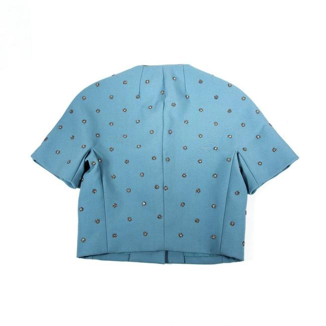 Dolce&Gabbana Blue Embellished Button-down Top Size 4 (S) Dolce&Gabbana Blue Embellished Button-down Top Size 4 (S) Image 2