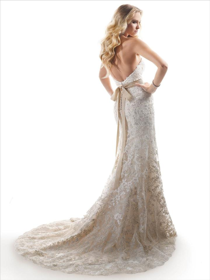 Maggie Sottero Ivorylight Gold Ombre Over Light Gold Lace Britannia