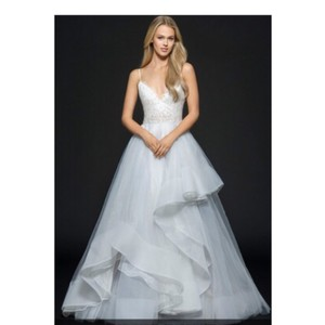 Hayley Paige Bijou Organza and Tulle Feminine Wedding Dress Size 12 (L)