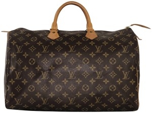 Louis Vuitton Monogram Speedy Speedy Speedy 40 Monogram Canvas Satchel in Brown