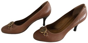 Bally Brown and gold Pumps