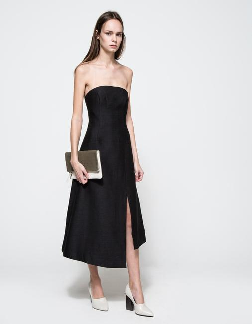 C/meo Collective Strapless Asymmetrical Modern Classy Dress Image 1