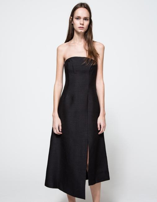 C/meo Collective Strapless Asymmetrical Modern Classy Dress Image 2