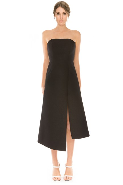 C/meo Collective Strapless Asymmetrical Modern Classy Dress Image 3