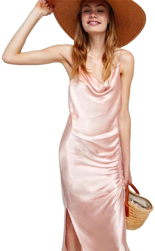 6039320c Zara Draped Lingerie-style Mid-length Night Out Dress Size 6 (S ...