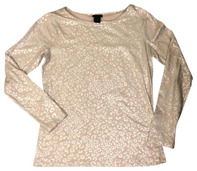 Item - Beige with Silver Modern Metallic Stretch Tunic Size 6 (S)