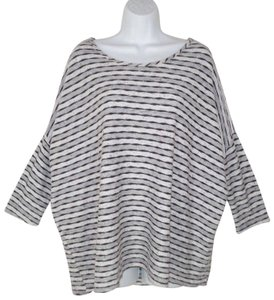 Tianello Textured Knit Oversized Dolman T Shirt