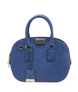 Burberry Leather Satchel in Blue