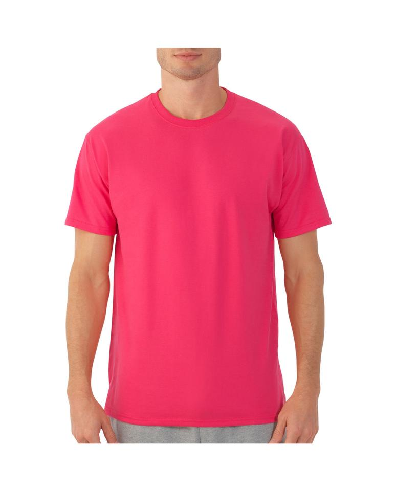 c2dfd038537f Fruit of the Loom Hot Pink Men's - 2xl Tee Shirt Size 22 (Plus 2x ...